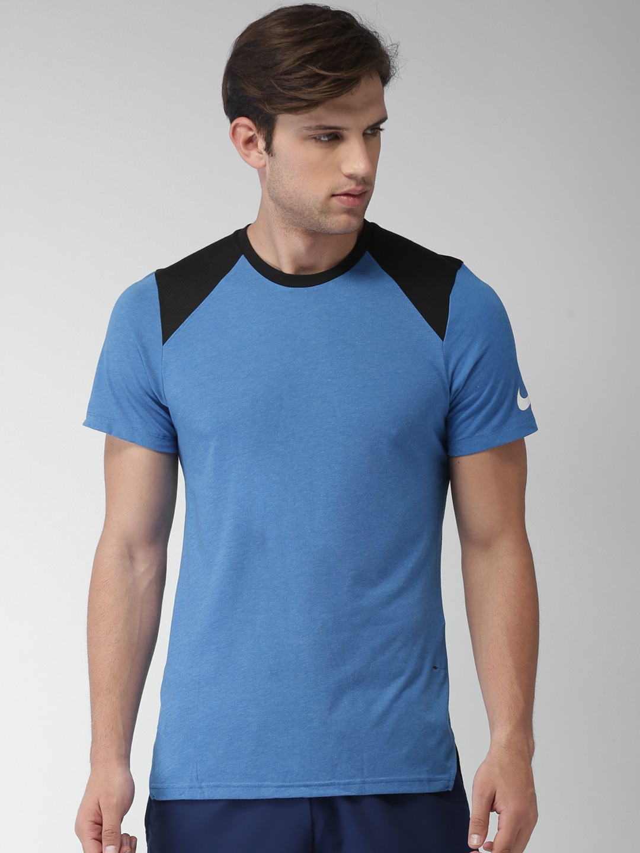 As M Black Nk Ss Colourblocked Elite Blueamp; T Brthe Dri Men Standard Nike Top Fit Shirt CodxBe