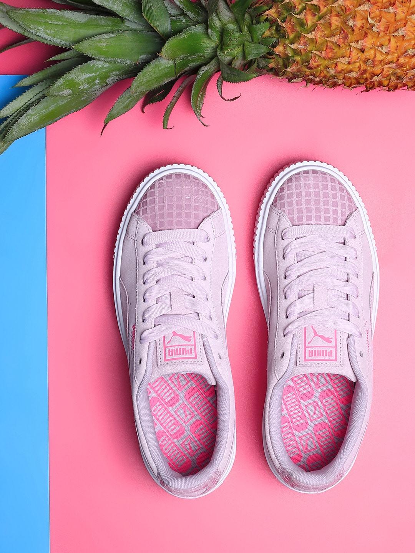 huge selection of c6070 09c6f Puma Women Pink Platform Street 2 Suede Sneakers