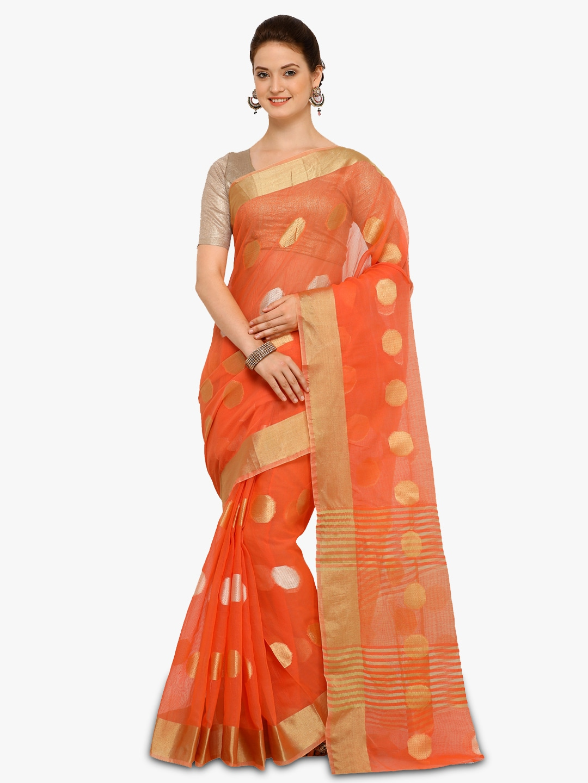 6e515a7ed2dc52 Red Orange Saree - Buy Red Orange Saree online in India