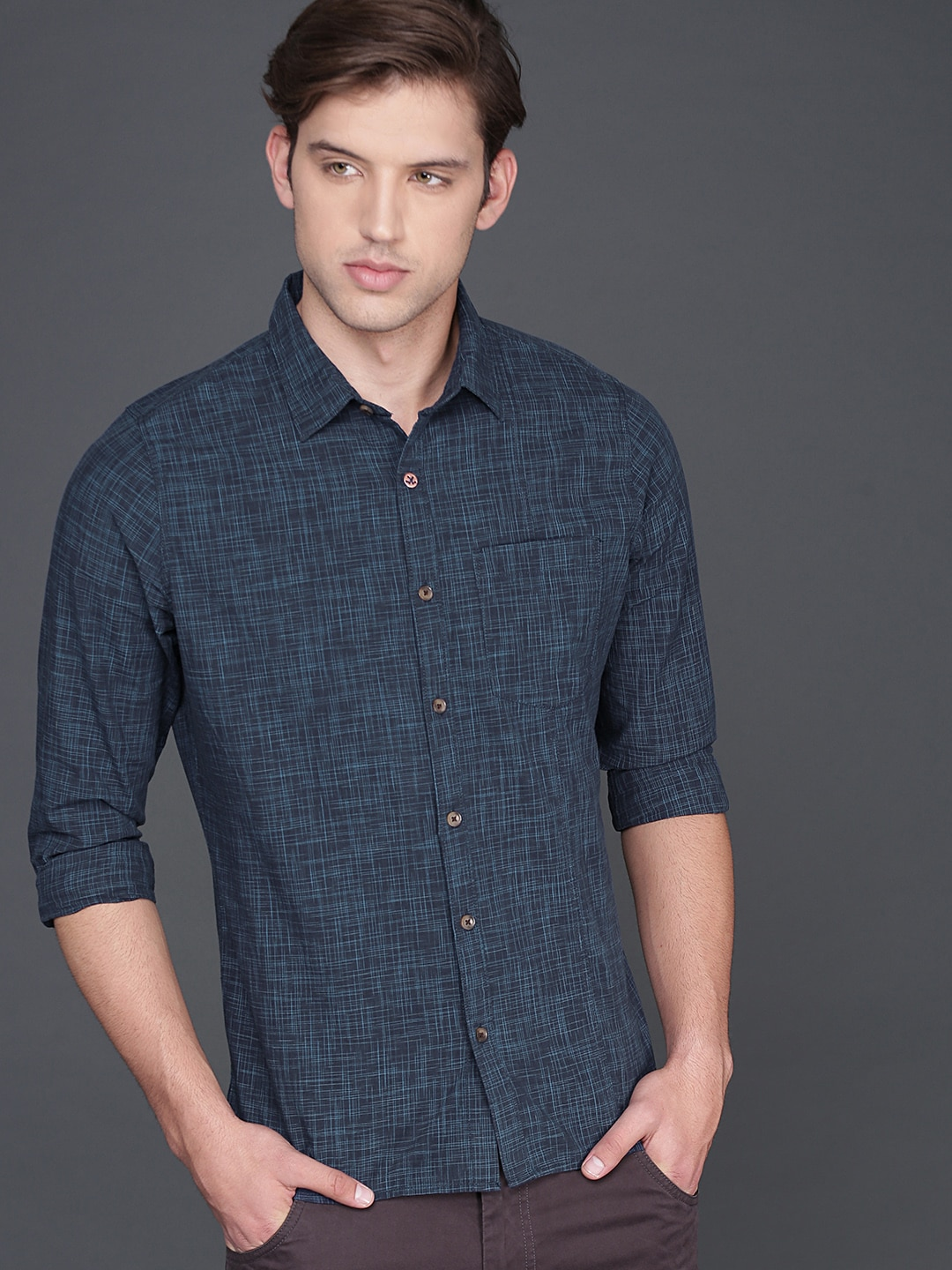 680cefc1b38 Micro Check Shirts For Men - Buy Micro Check Shirts For Men online in India