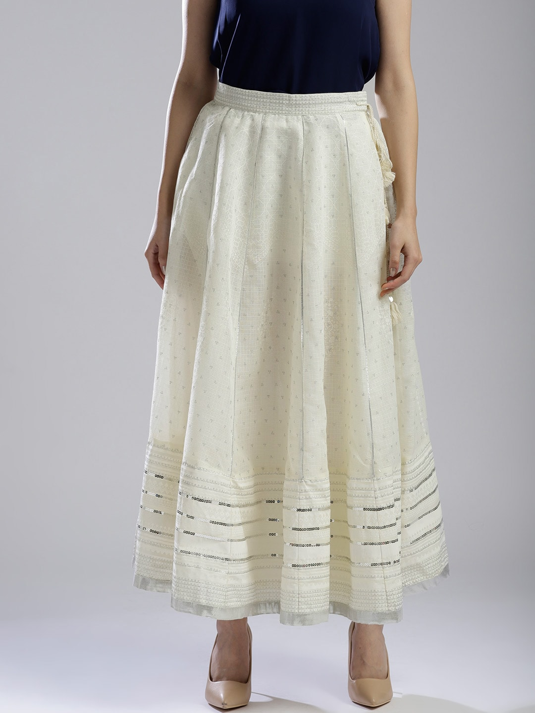 2204f53186 Off White Skirts - Buy Off White Skirts online in India