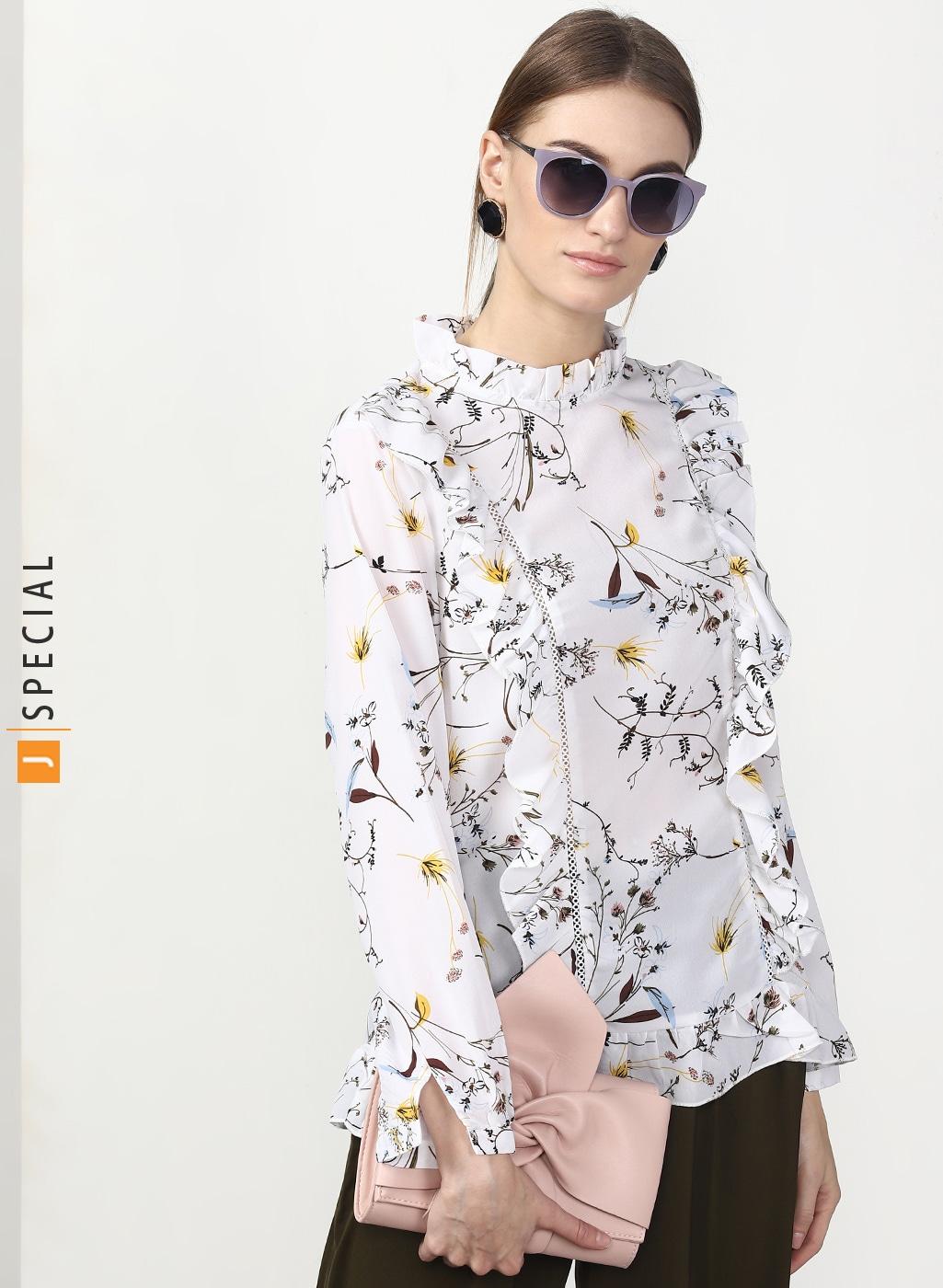 c4172c2e5bbf92 Women Apparel Tops Tees Shirts - Buy Women Apparel Tops Tees Shirts online  in India - Jabong