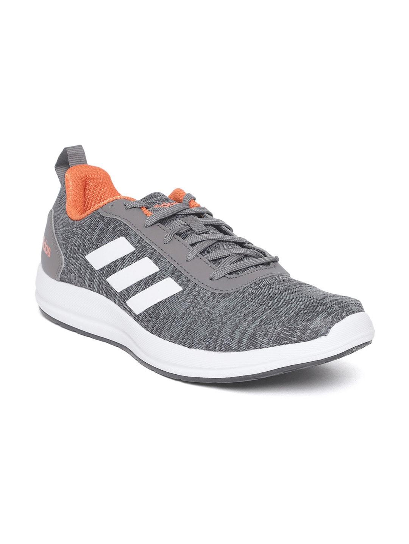 detailing sale retailer first look ADIDAS Men Grey VIDELL Woven Design Running Shoes