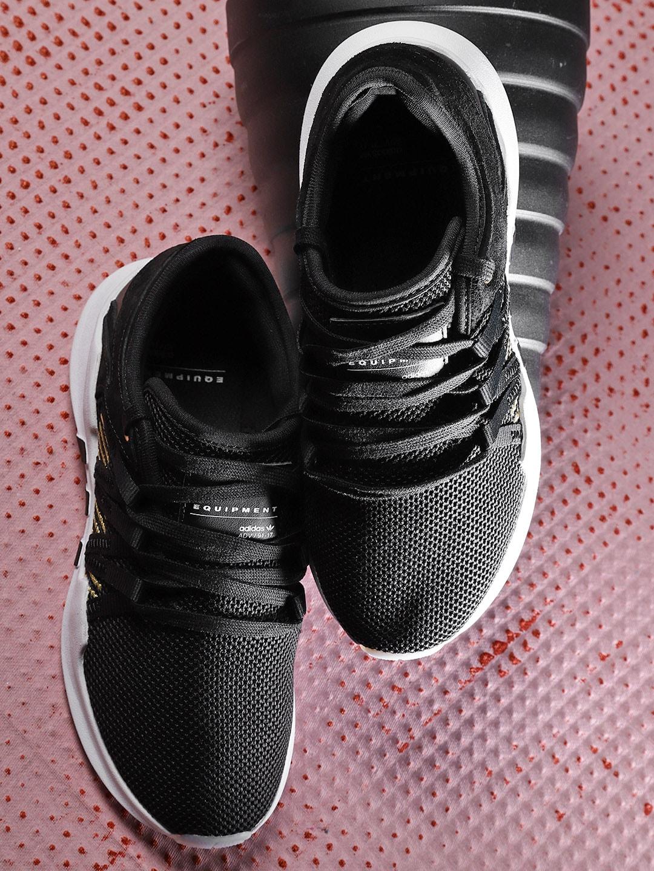 ADIDAS Originals Women Black EQT ADV Racing Sneakers