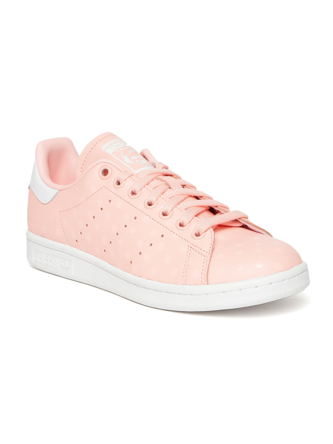 best service cef38 e6428 Adidas Originals Women Pink Stan Smith Leather Sneakers