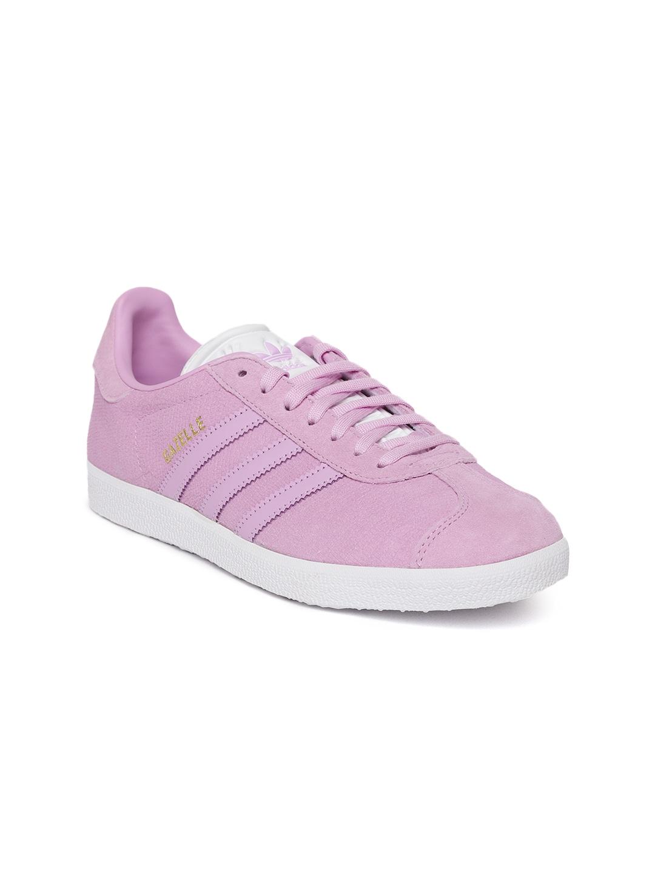 c81f2d1899cd4a ADIDAS Originals Women Lavender Gazelle Snakeskin Texture Leather Sneakers