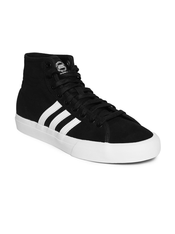 ADIDAS Originals Men Black Matchcourt High RX Skateboarding Shoes