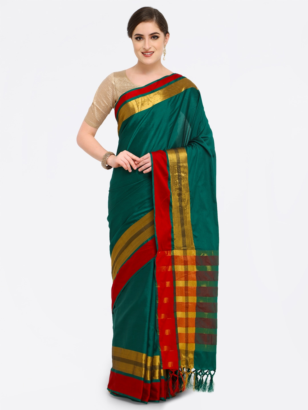 bcc1068fc6 Cotton Silk Saree - Buy Cotton Silk Sarees Online | Myntra