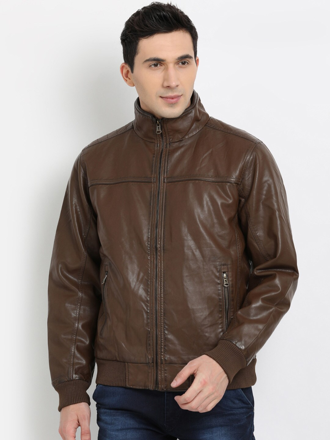 Leather Jackets Buy Jacket Online In India Myntra Jaket Levis Pria Jeans Levi S Basic