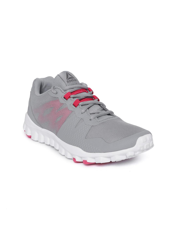 8f04e323f9 Reebok Women Grey REALFLEX TRAIN 5.0 Training or Gym Shoes