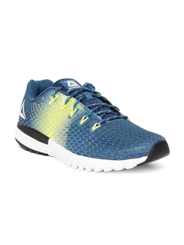 yksinoikeudella kengät uudet tarjoukset varastossa Reebok Men Teal Blue Elite Runner LP Running Shoes