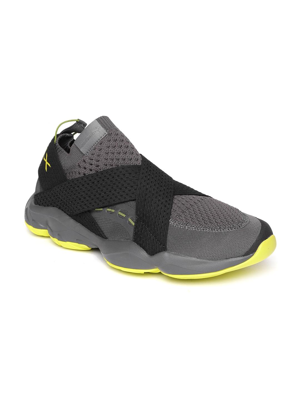 38ebe88d0c Reebok Classic Men Charcoal Grey DMX FUSION Slip-On Sneakers