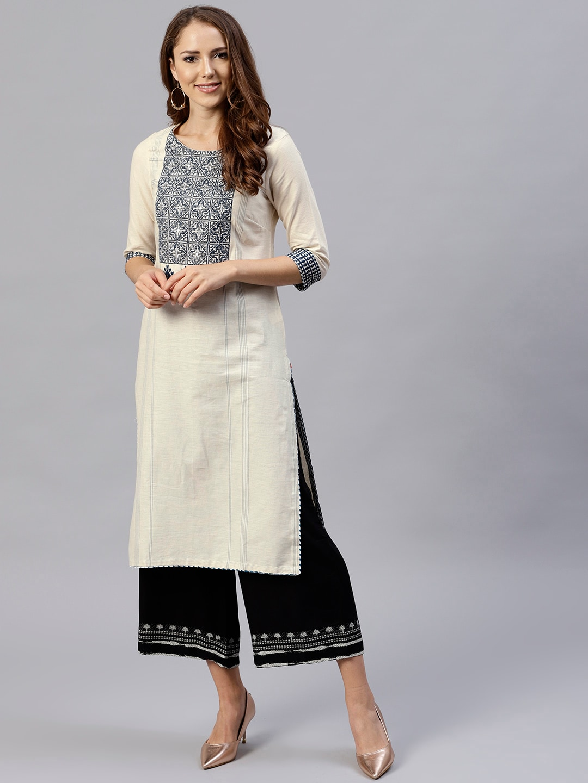 7f31a9068 Off White Kurtis Kurtas - Buy Off White Kurtis Kurtas online in India