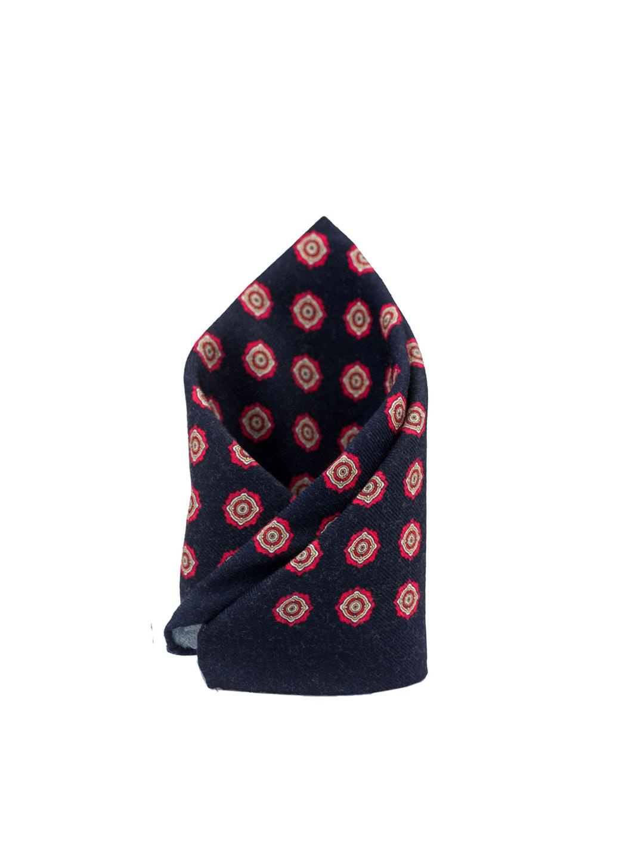 Men Pocket Printed Woollen Hub The Blue Navy Tie Square 2HE9WDI