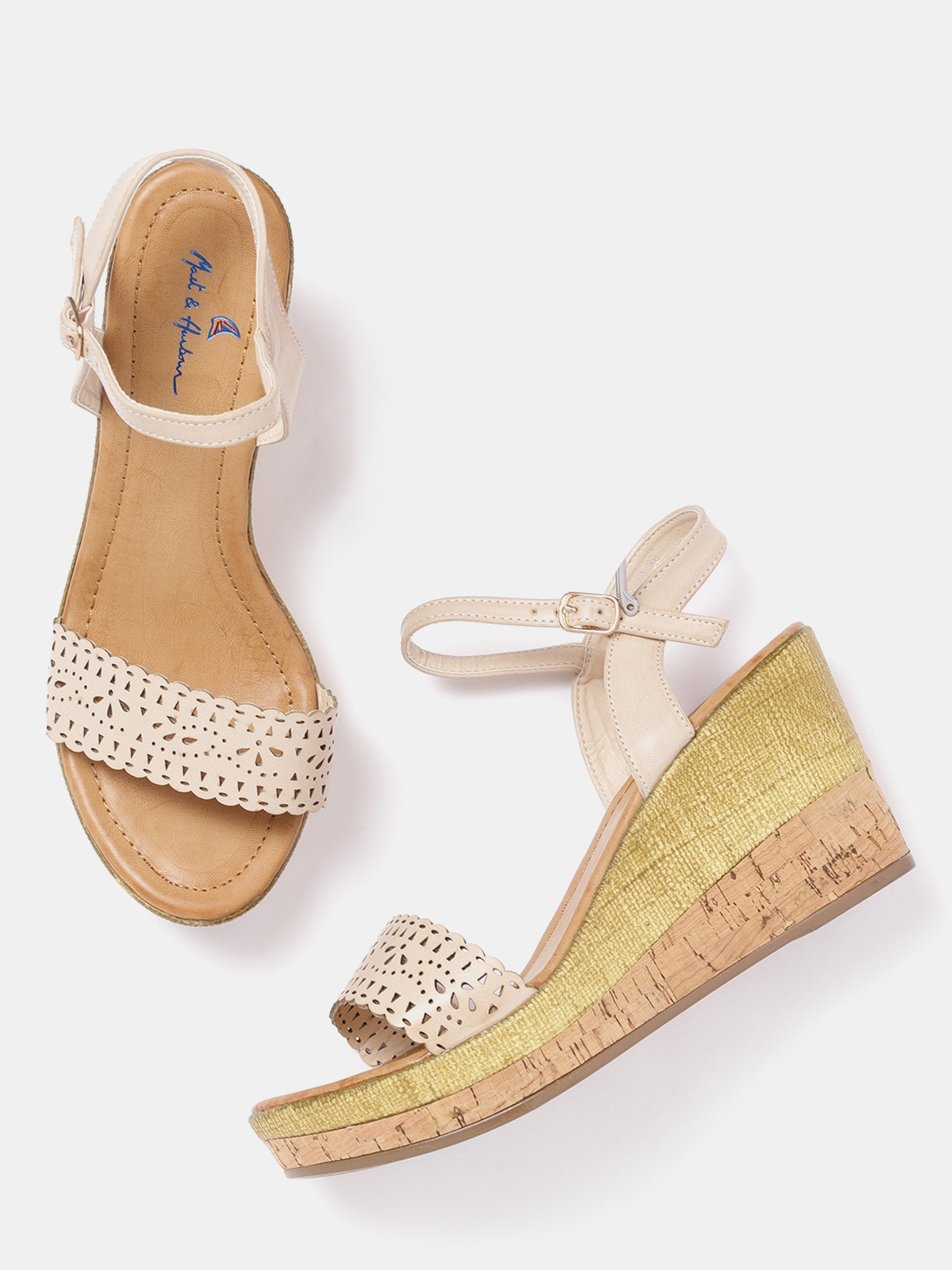 Wedge Heels Buy Online In India At Best Price Mary Janes Straps Circle Block Pointed Toe Wedges Shoes Black