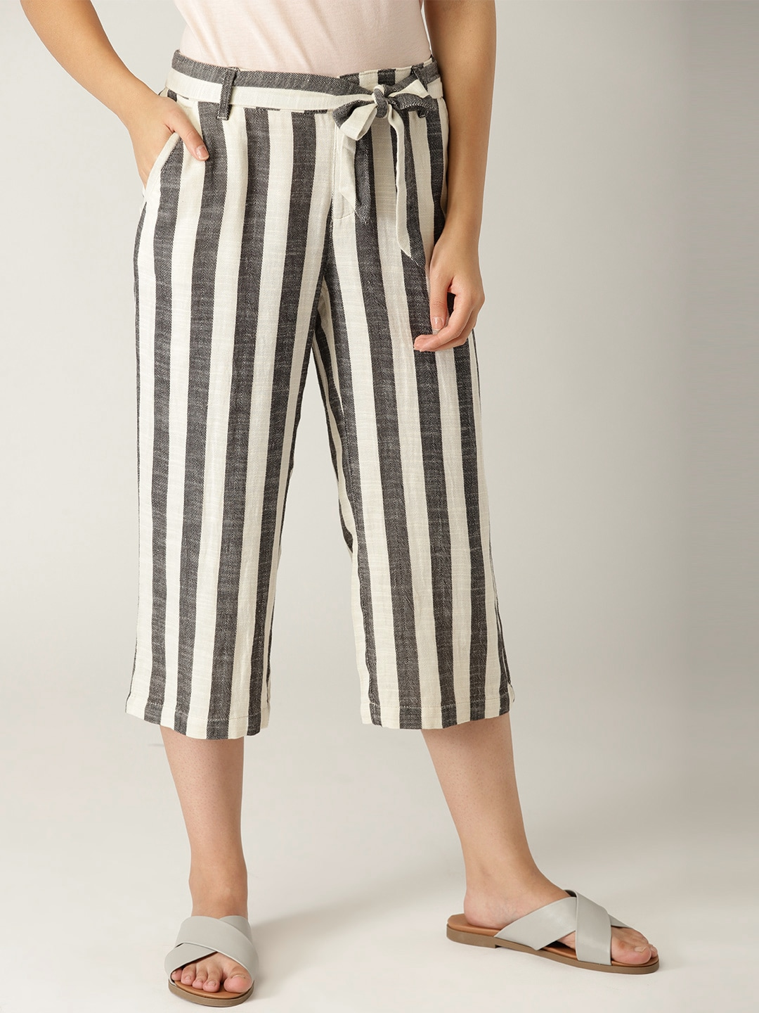70e1de32caea Off White Trousers - Buy Off White Trousers online in India