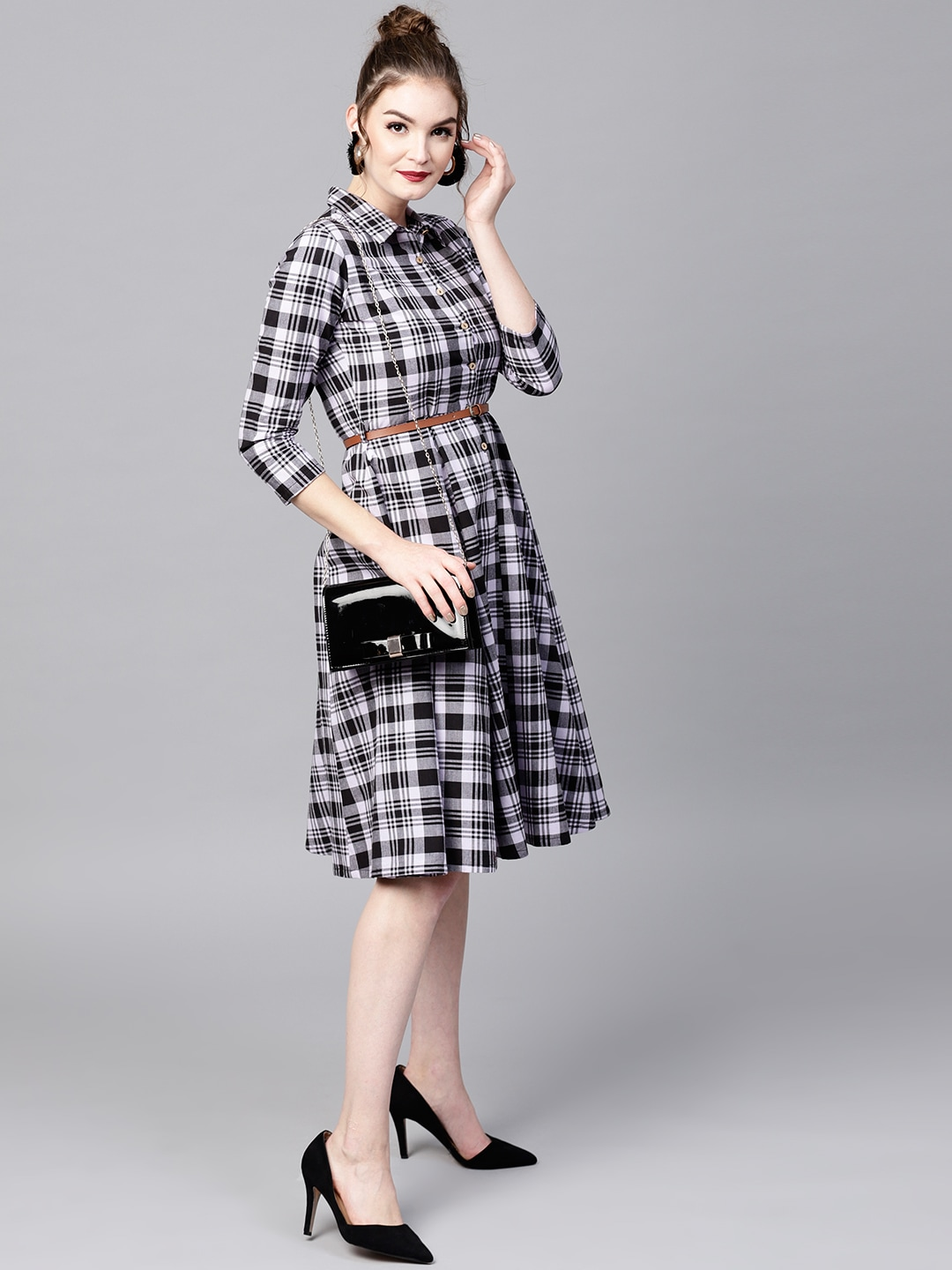 aa470ab1898 Checked Dresses - Buy Checked Dresses online in India