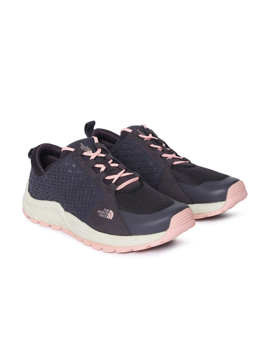 b08a28600 The North Face Women Navy Blue and Pink W MOUNTAIN Trekking Shoes