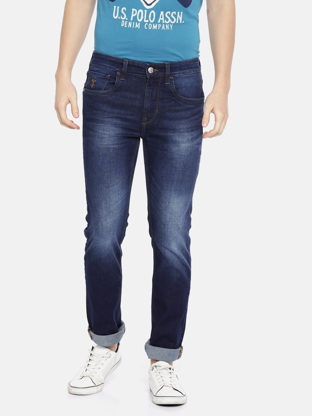 Jeans Rise Stretchable CoMen Skinny Blue U sPolo Mid Clean AssnDenim Look Fit mn0N8w