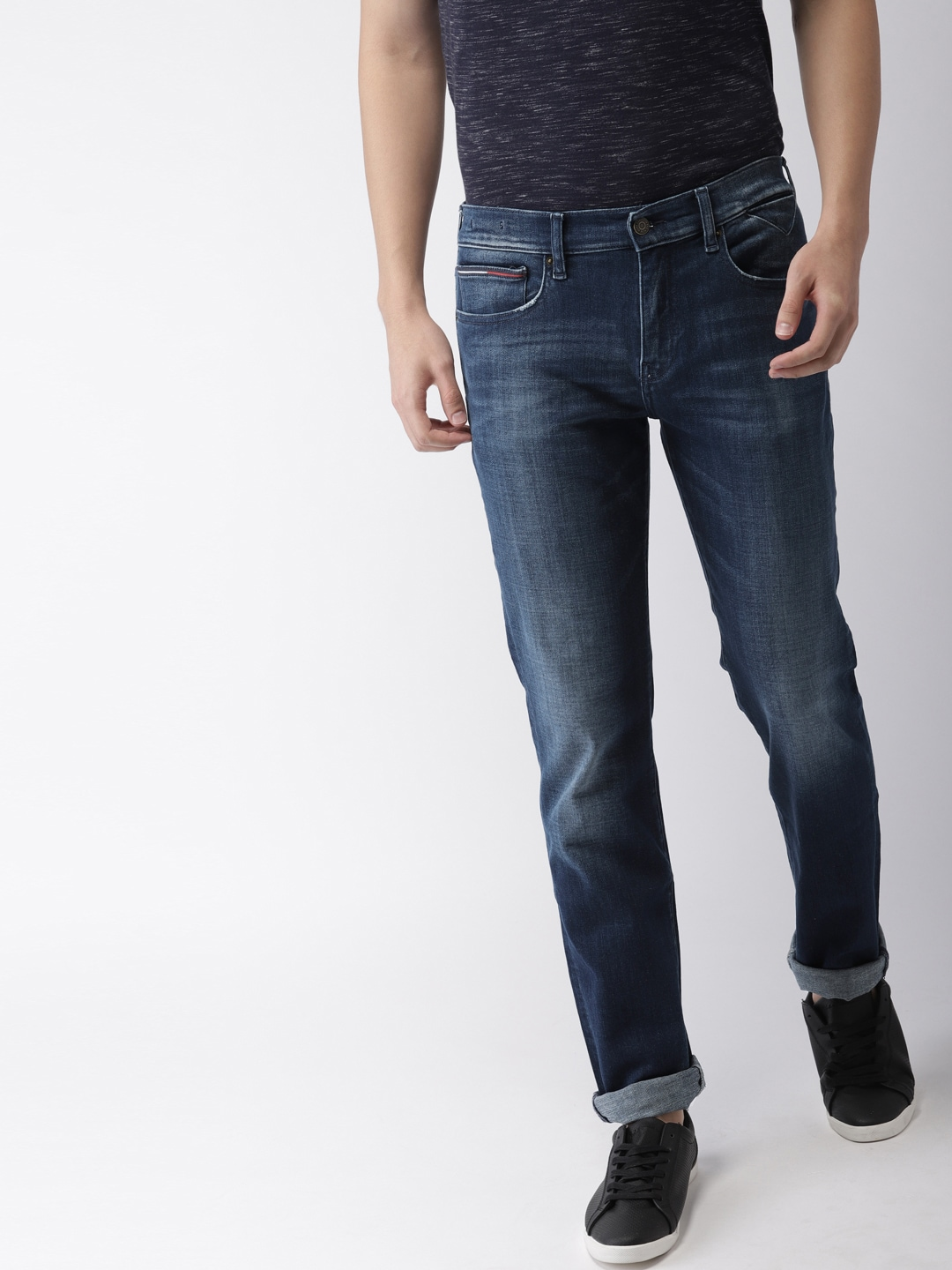 35db56c35 Tommy Hilfiger Straight Fit Denim Jeans - Buy Tommy Hilfiger Straight Fit  Denim Jeans online in India
