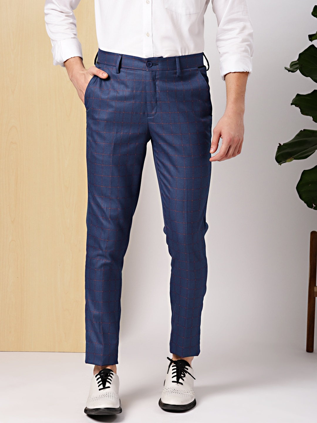 Checked Trousers Buy Checked Trousers Online In India