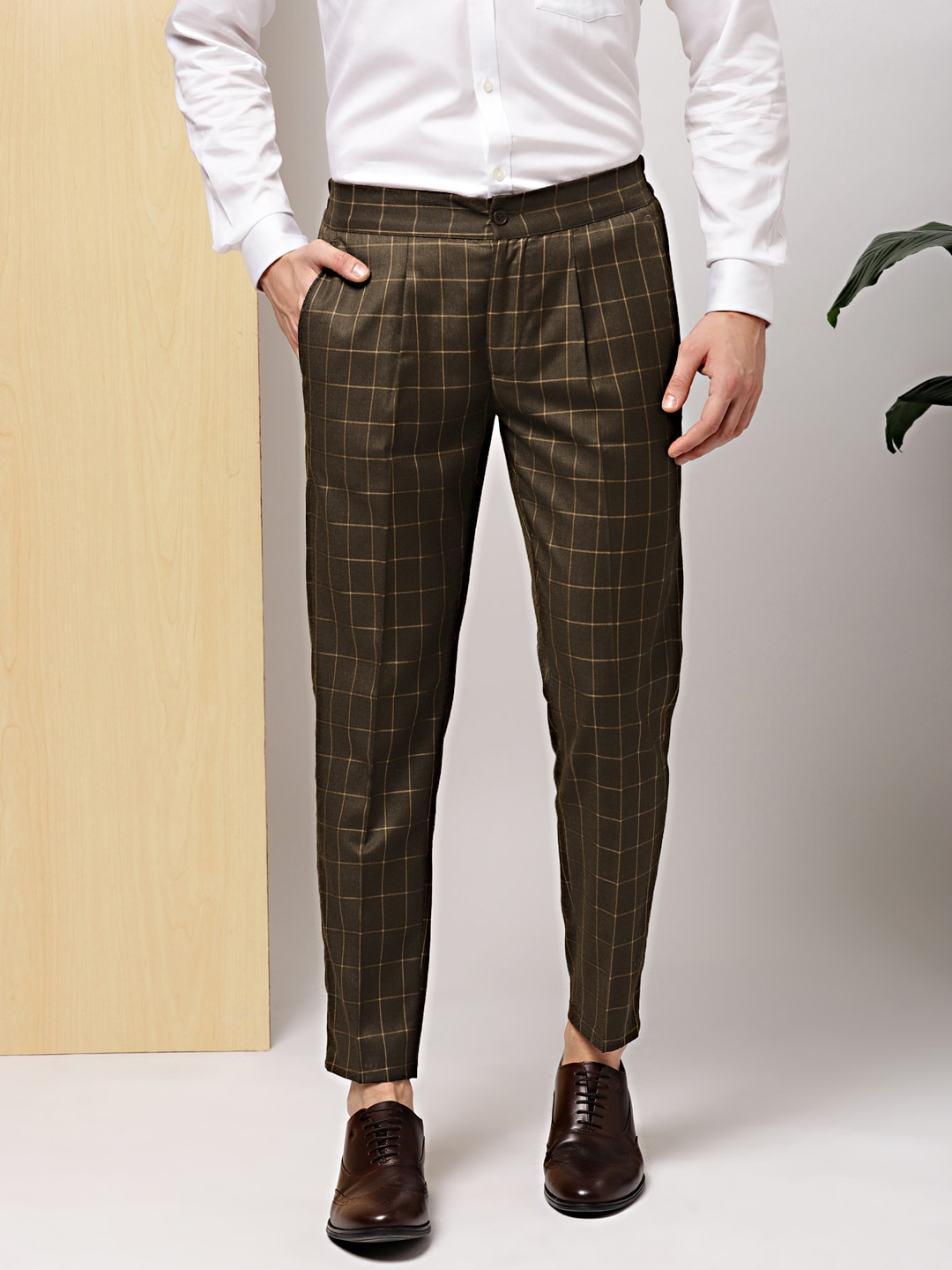 33fb3734e21 Pleated Trousers Men - Buy Pleated Trousers Men online in India