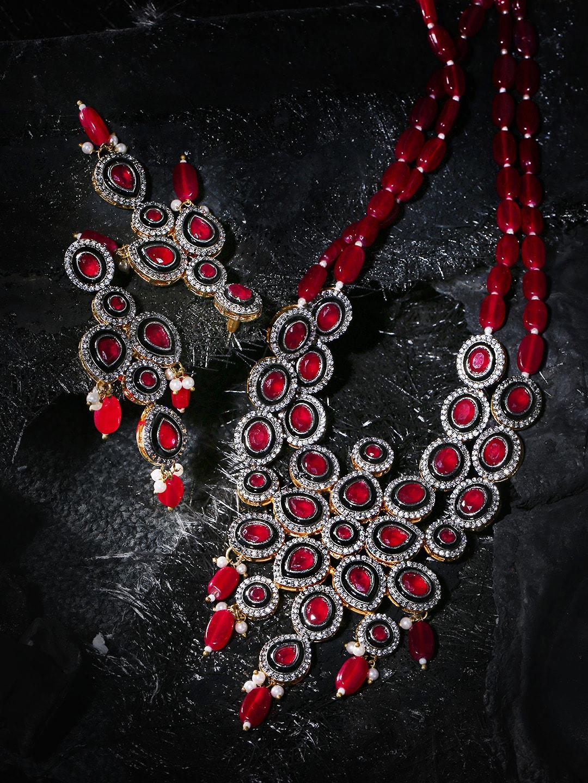 Women Red Jewellery Set - Buy Women Red Jewellery Set online in India cd5d0e9723