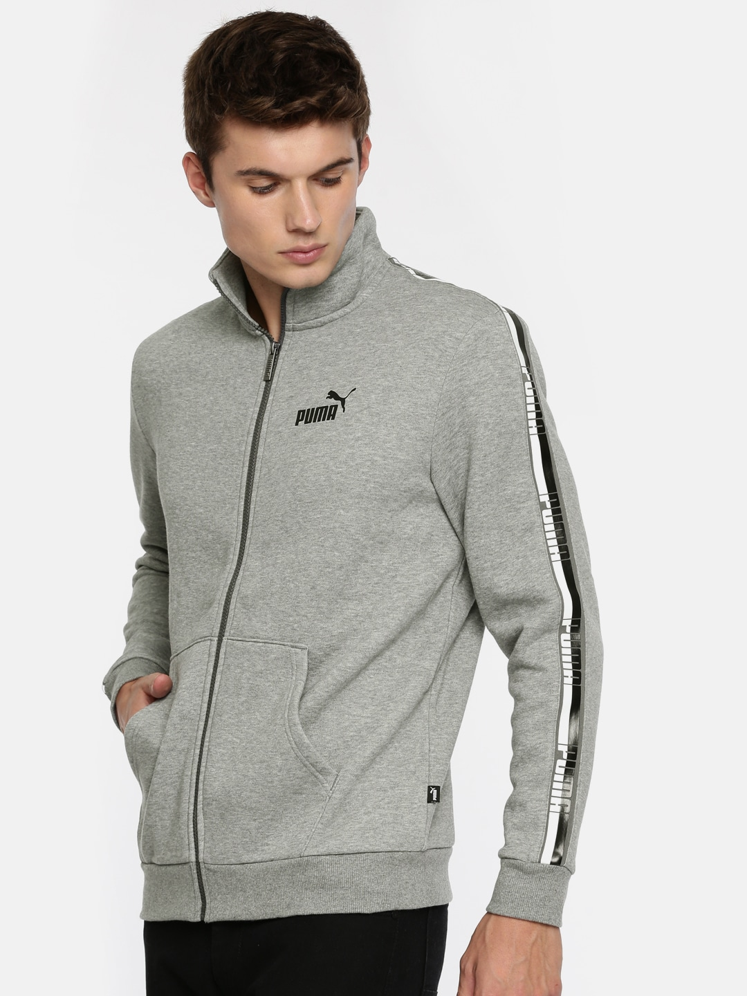 Tape Sweatshirt Hooded Ess Elevated Puma Grey eED2I9YWH