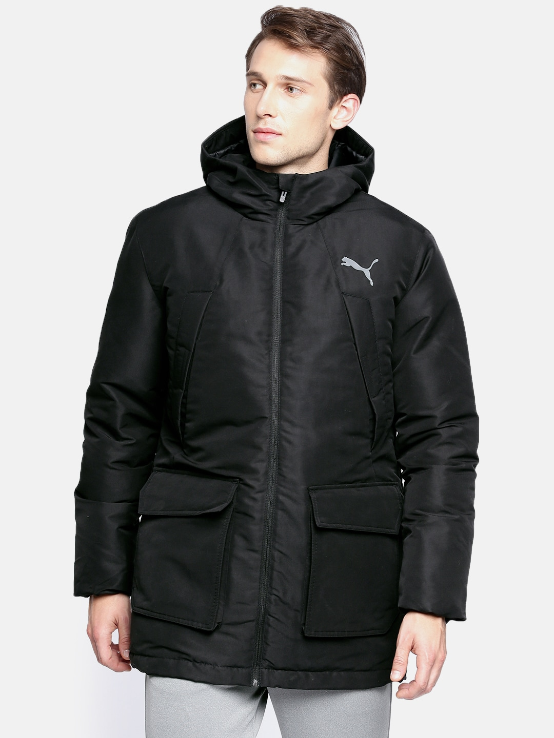 473118f8f Puma Men Black Solid warmCELL SHIELD Padded Jacket