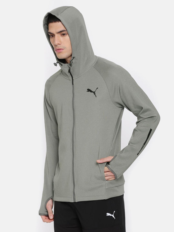 46fe2353c Puma Men Grey Melange Tec Sports FZ DRY CELL Hooded Jacket