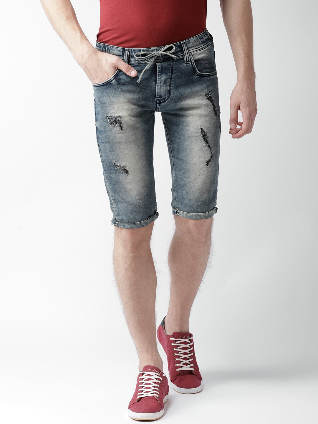 Denim Shorts - Buy Denim Shorts online in India d0de07fda987