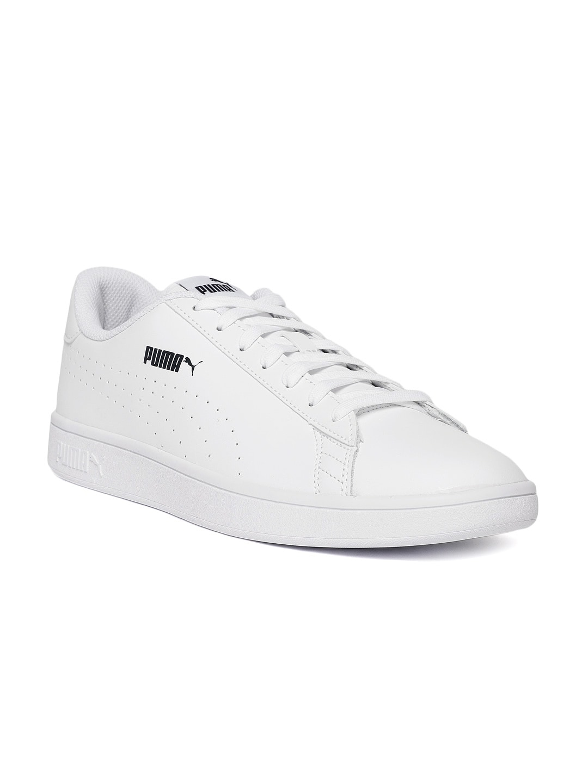 a7847e2b56e Puma Men Leather Black White - Buy Puma Men Leather Black White online in  India