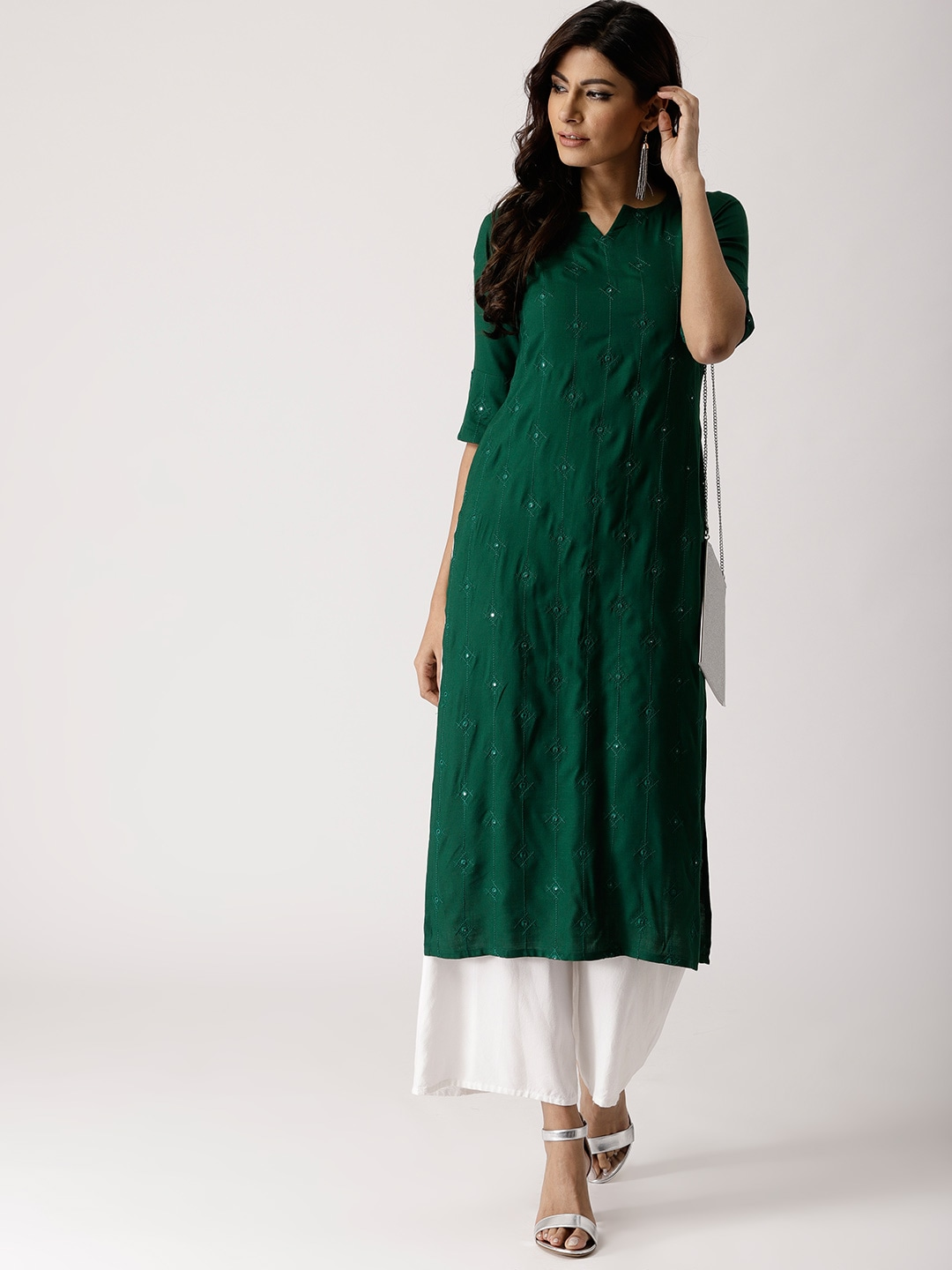 daed4af3e4e Mirror Work Kurtas - Buy Mirror Work Kurtas online in India