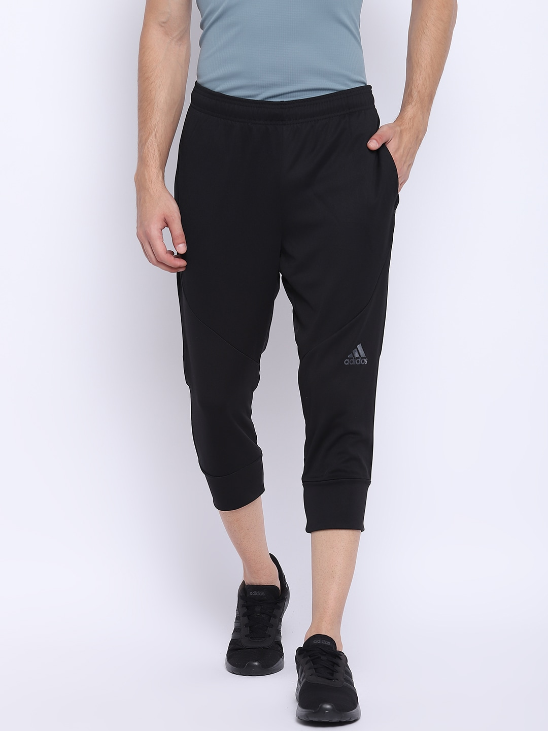 ADIDAS Men Black WO PA Climacool 34 Tapered Fit Training Track Pants