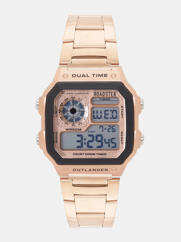 Roadster Unisex Rose Gold-Toned Digital Watch MFB-PN-SKM-1335