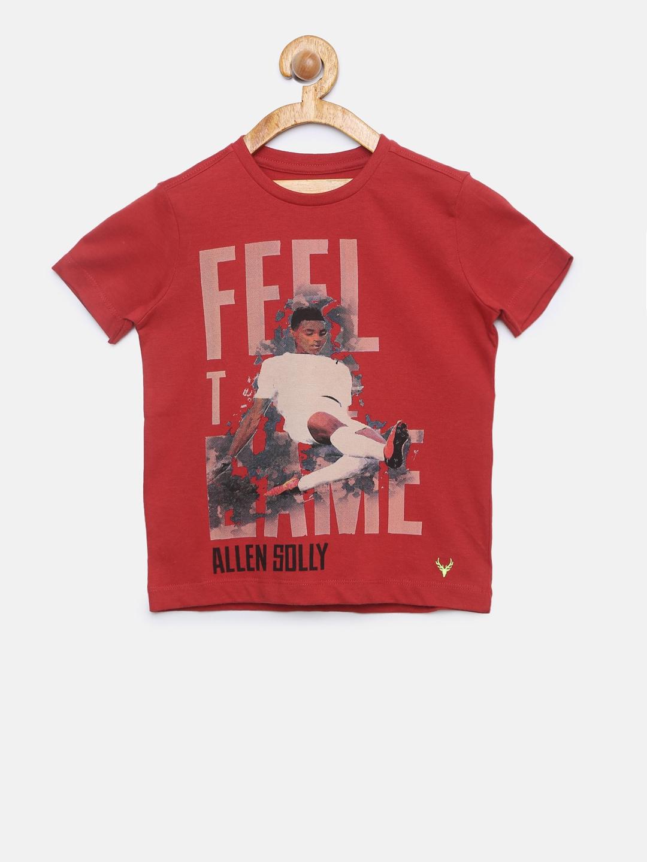 b3924b91d933 Allen Solly Junior Red Tshirts - Buy Allen Solly Junior Red Tshirts online  in India