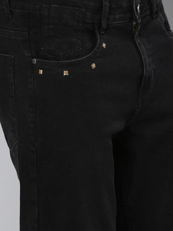 Kook N Keech Men Black Slim Tapered Fit Mid-Rise Clean Look Stretchable Jeans