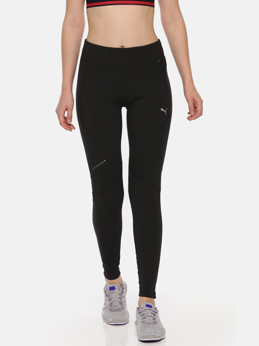 Dry Cell Run Solid Black Long Puma Tights Jl1cTFK3