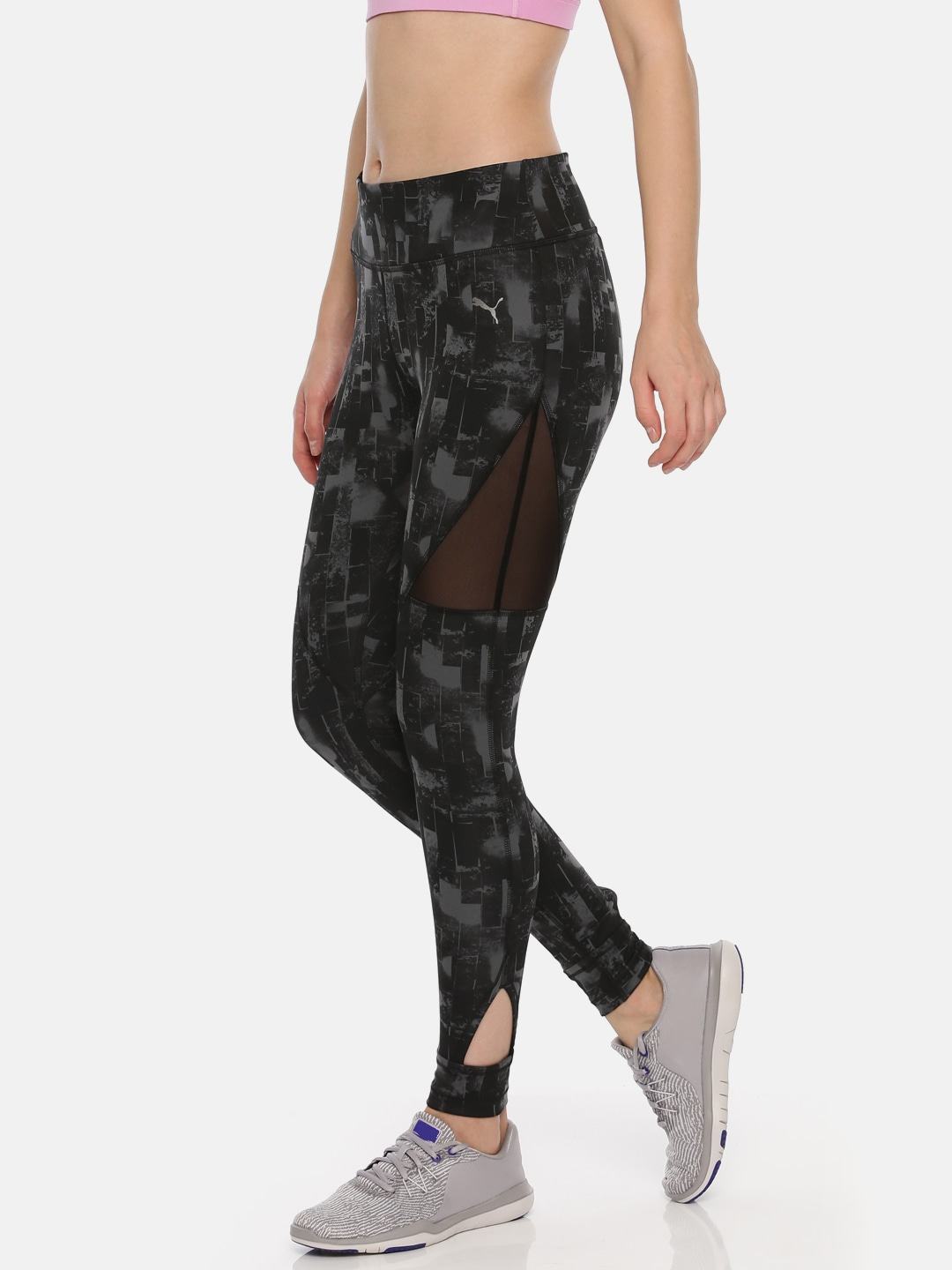 Puma Black Printed Explosive 78 Graphic DRY CELL Tights