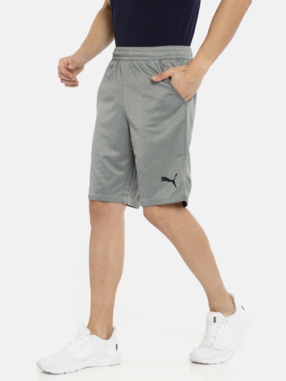 f41cd78689 Puma Men Grey Tec Sports Interlock Solid dryCELL Sports Shorts
