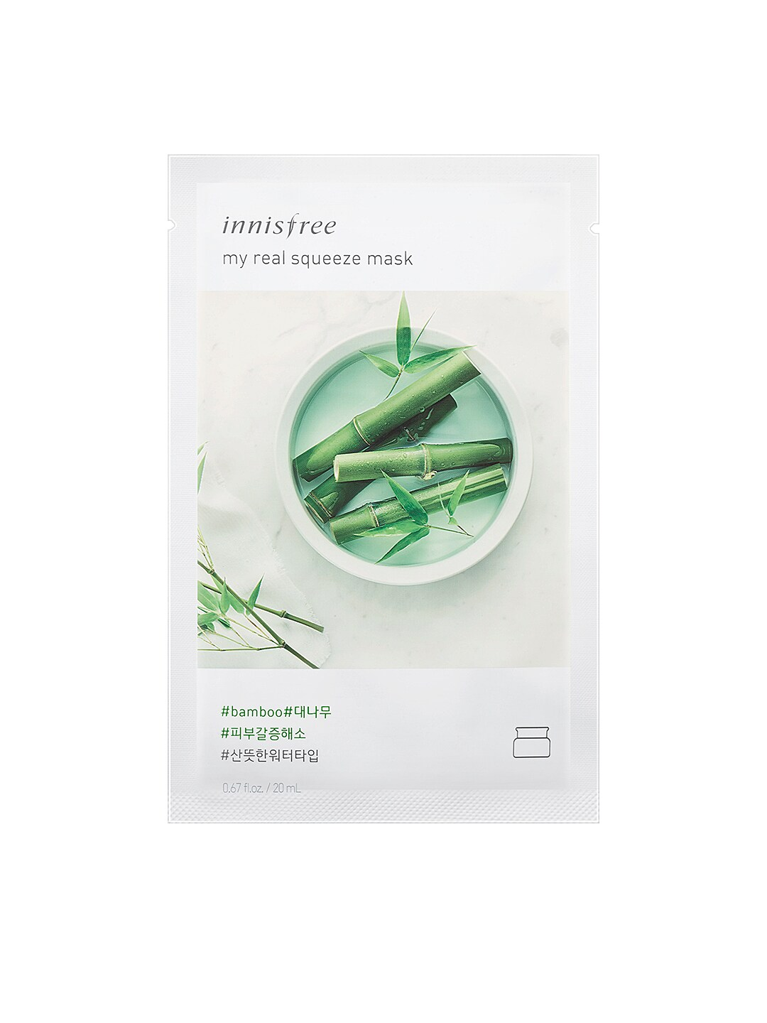 Innisfree My Real Squeeze Bamboo Mask 20 ml