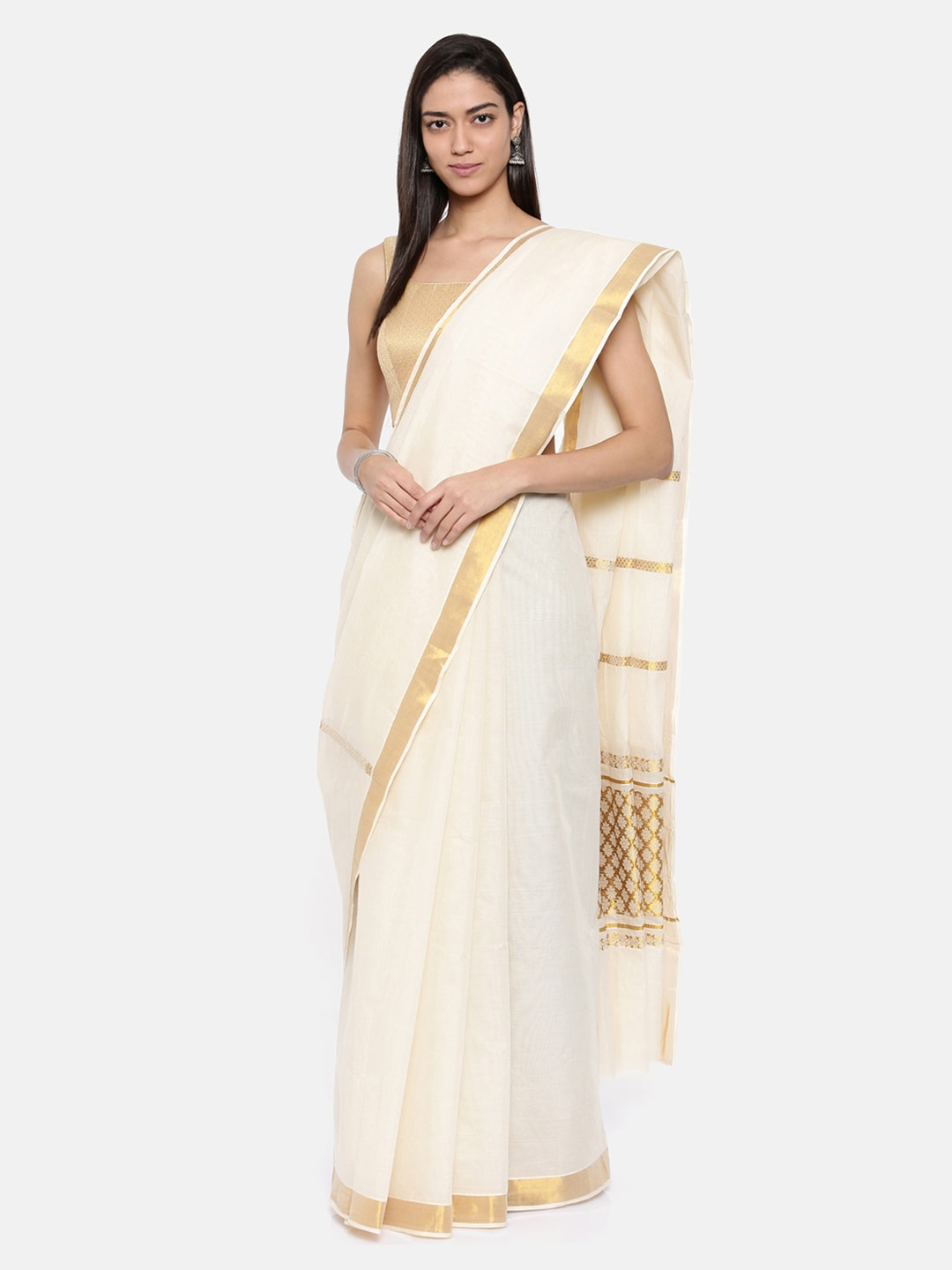 d4a3a87fb8826 White Sarees Sarees Blouse - Buy White Sarees Sarees Blouse online in India