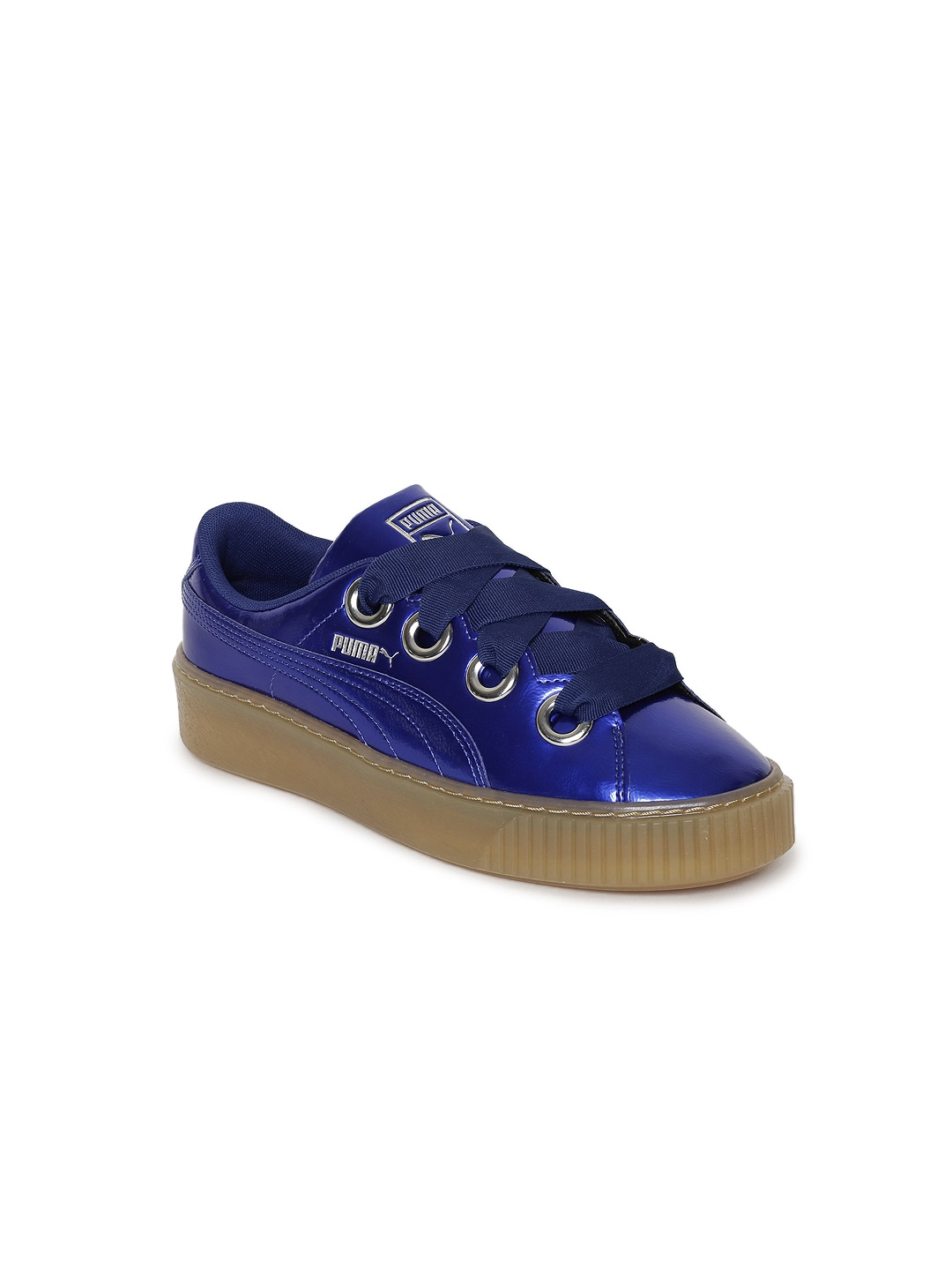 Puma Basket Platform Sneakers Kiss Girls Blue Anodized ZikuPX