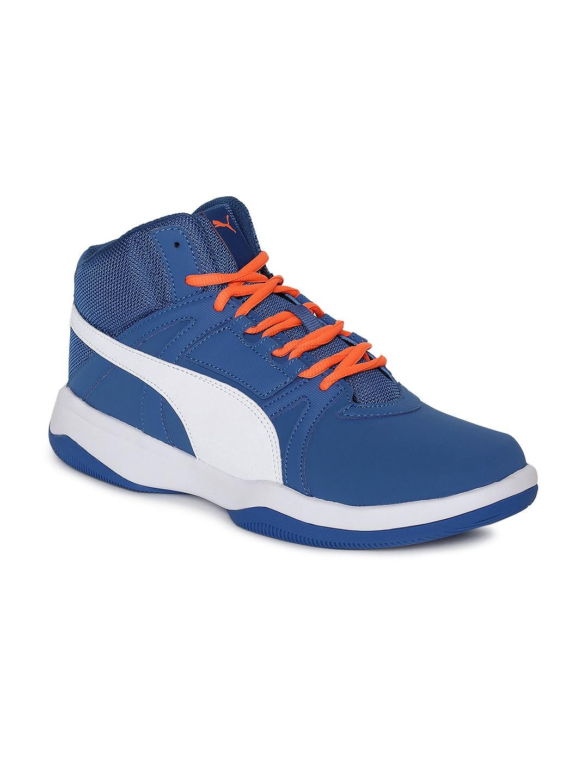 Puma Men Blue & White Rebound Street Evo IDP Running Shoes