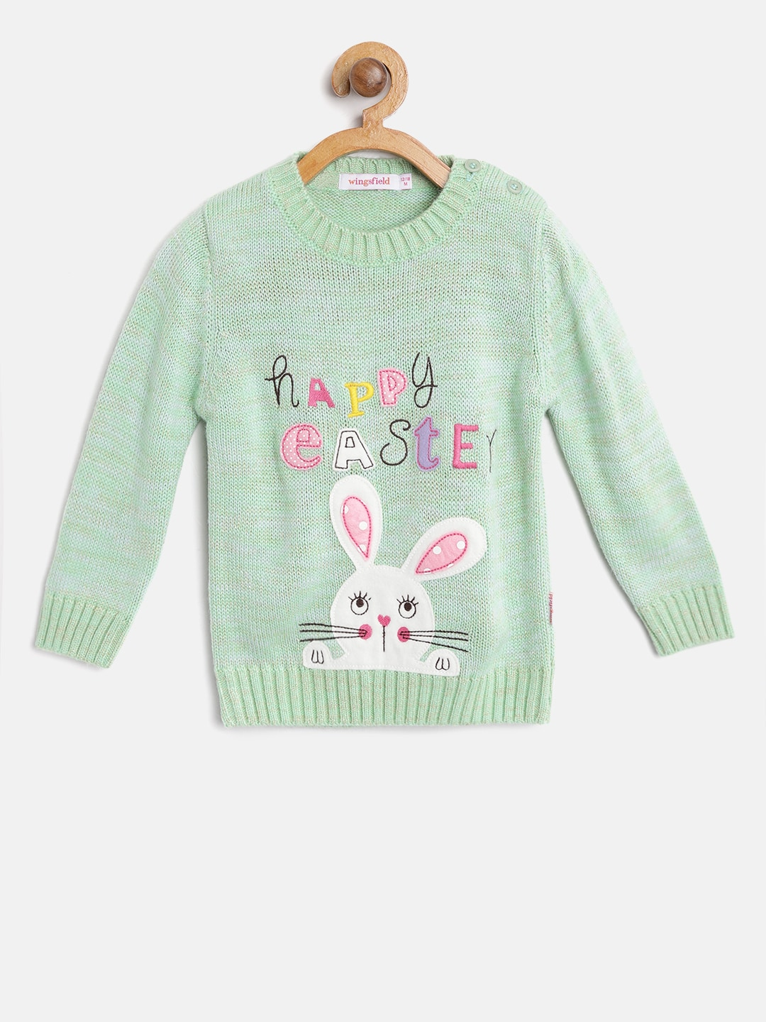 e506c7b13ad6 Girls Green Sweaters - Buy Girls Green Sweaters online in India