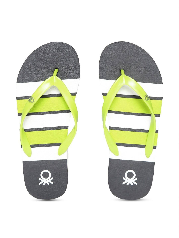 fa08e9d3ba03b Green White Flip Flops - Buy Green White Flip Flops online in India