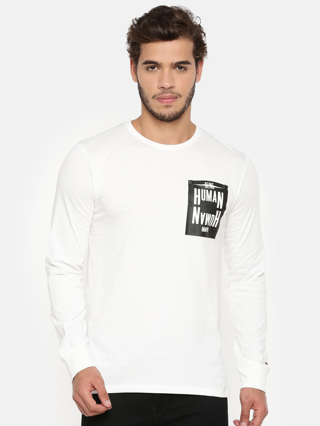 Buy Being Human T Shirts Online For Men At Myntra Kaos Polos Grey Solid