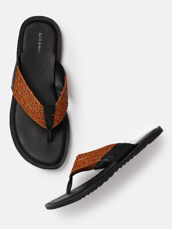 82b7bed8e4afb3 Men Black Footwear Flip Flops Sandals - Buy Men Black Footwear Flip Flops  Sandals online in India