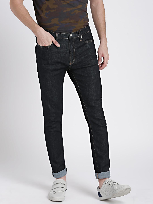 GAP Men's Blue Resin Rinsed Jeans in Super Skinny Fit with GapFlex