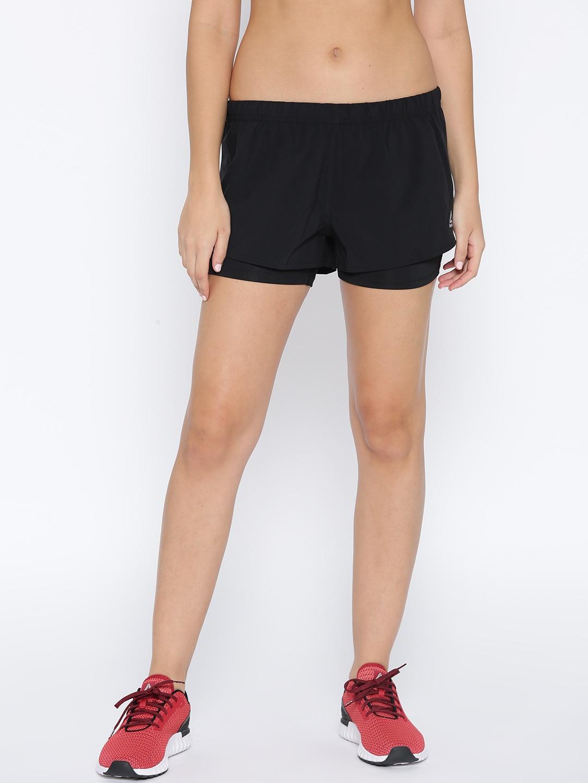 e771c992c2 Reebok Women Black 2-In-1 Running Shorts